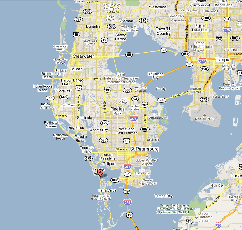 Map Of St Pete Beach Hotels